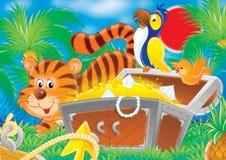 Animales alegres 16 stock de ilustración