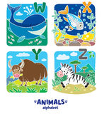 Animales alfabeto o ABC Foto de archivo