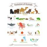 Animales biológicos de la evolución libre illustration