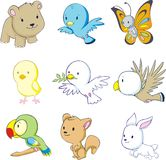 Animales coloridos del bebé Fotos de archivo