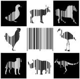 Animales como clave de barras Fotografía de archivo