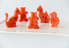 Animales cortados de la sandía Imagen de archivo libre de regalías