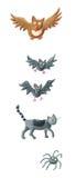 Animales de Hallowen stock de ilustración