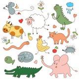Animales de la historieta Fotografía de archivo