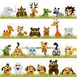Animales de la historieta Imagenes de archivo