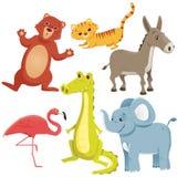 Animales de la historieta Imagen de archivo