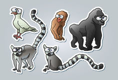 Animales de la historieta Fotos de archivo