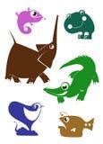 Animales de la historieta Foto de archivo libre de regalías
