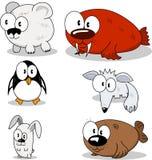 Animales de la historieta stock de ilustración
