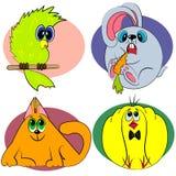 Animales de la historieta fijados. parque zoológico de los animales Fotos de archivo