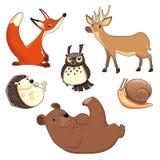 Animales de madera ilustración del vector