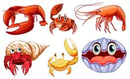 Animales de mar ilustración del vector