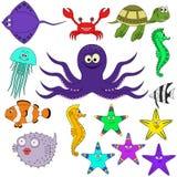 Animales de mar del vector Imágenes de archivo libres de regalías