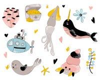 Animales de mar del vector stock de ilustración