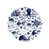 Animales de mar de la historieta Imagen de archivo