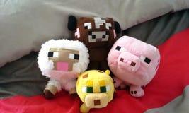 Animales de Minecraft Imágenes de archivo libres de regalías