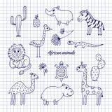 animales del africano del Mano-drenaje libre illustration