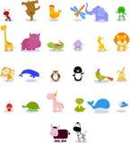 Animales del alfabeto animal Imagen de archivo libre de regalías