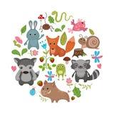 Animales del bosque Fotografía de archivo