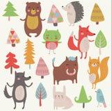 Animales del bosque foto de archivo