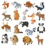 Animales del bosque fijados Fotografía de archivo libre de regalías