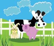 Animales del campo stock de ilustración