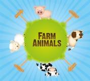 Animales del campo en mundo Imagen de archivo libre de regalías