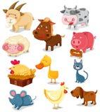 Animales del campo fijados Imagen de archivo libre de regalías