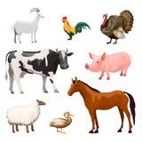 Animales del campo fijados Imagen de archivo