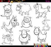 Animales del campo que colorean la página Imagen de archivo
