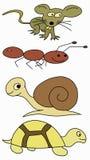 Animales del dibujo de la mano Imagen de archivo