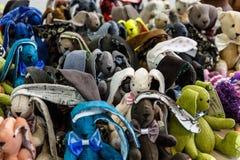 Animales del juguete de la tela de la piel Foto de archivo libre de regalías