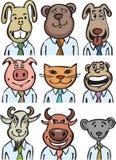 Animales del negocio de la historieta libre illustration