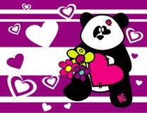 Animales del oso de la historieta en amor Foto de archivo libre de regalías