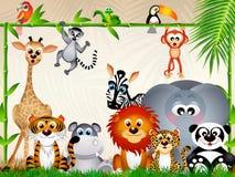 Animales del parque zoológico ilustración del vector
