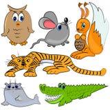 Animales del parque zoológico. mamífero de la historieta stock de ilustración