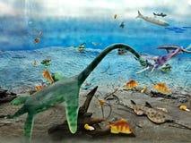 Animales del período mesozoico foto de archivo