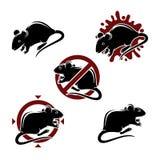 Animales del ratón fijados Vector Imagenes de archivo