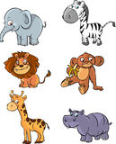 Animales del vector fijados Foto de archivo libre de regalías