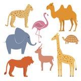 Animales del vector fijados Fotos de archivo libres de regalías
