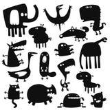 Animales divertidos ilustración del vector