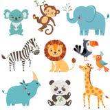 Animales divertidos stock de ilustración