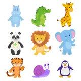 Animales divertidos de la colección del vector stock de ilustración