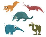 Animales divertidos de la historieta Imagen de archivo