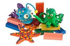Animales divertidos del plasticine Foto de archivo libre de regalías