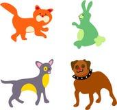 Animales domésticos de la familia stock de ilustración