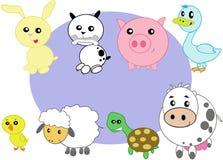 Animales domésticos estilizados stock de ilustración