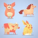 Animales domésticos fijados Imagenes de archivo