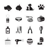 Animales domésticos que preparan iconos de la tienda Imágenes de archivo libres de regalías