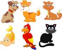 Animales domésticos del personaje de dibujos animados Fotografía de archivo